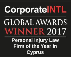 2017 Global Awards  Personal Injury Law Firm Of The Year In Cyprus 34fdf25f94f8120b4417bc9c86b7838b